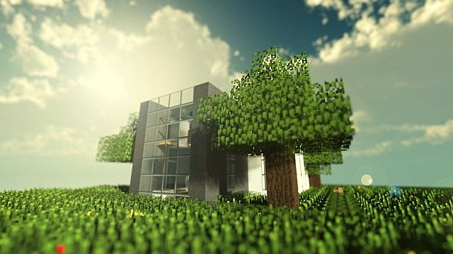 . Simple Modern House Minecraft Project