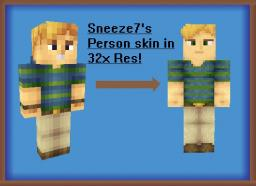 Skin Timelapse: Sneeze7's Personal Skin [32x Resolution] Minecraft