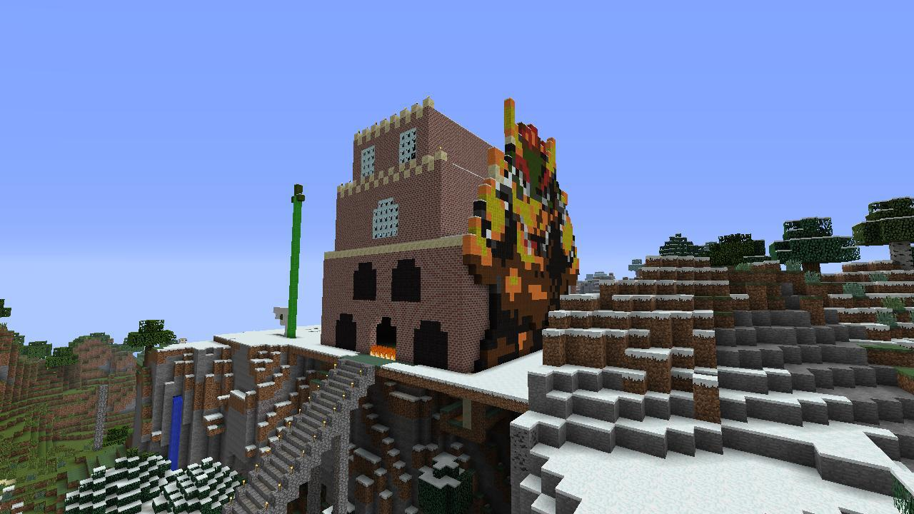 Super Mario Bros Bowsers Castle Minecraft Project