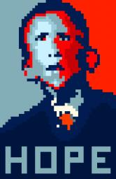 Barack Obama HOPE Poster Art Minecraft Blog Post