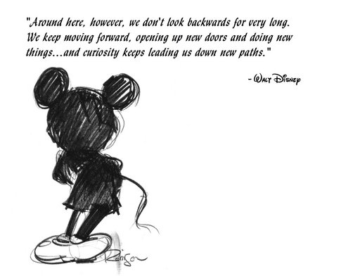 Keep moving forward quote by walt disney