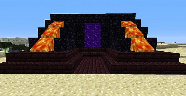 nether portal decoration minecraft project. Black Bedroom Furniture Sets. Home Design Ideas