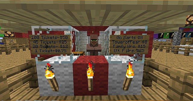 how to make a ticket booth in minecraft