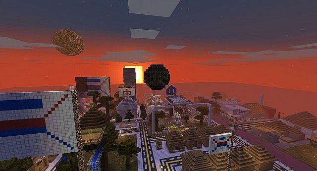 Xatrun city, dawn