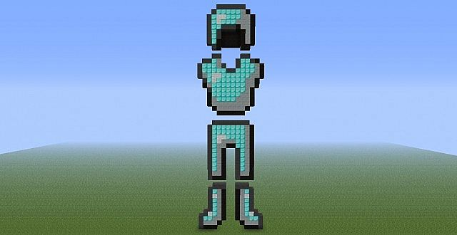 Diamond Armor Pixel Art Minecraft Project