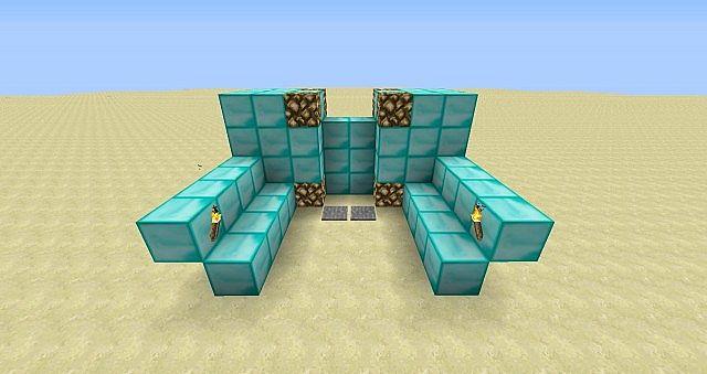 Piston Door Piston Door 2x3 Minecraft