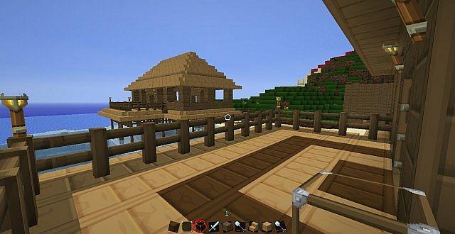 Beach House On Stilts Minecraft Project