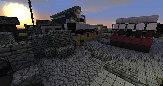 Black Ops Ii Nuketown Zombies Minecraft Project