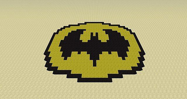 Batman Logo D Minecraft Project