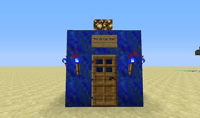 tardis from doctor who minecraft project