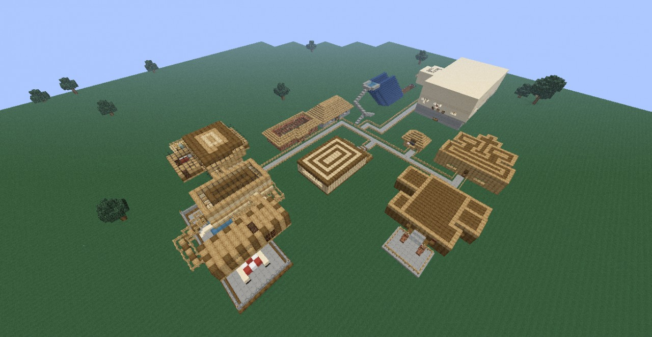epic modern village Minecraft Project
