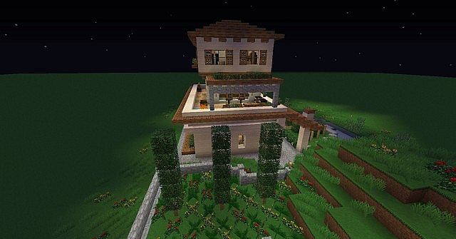 Small Italian Villa Minecraft Project