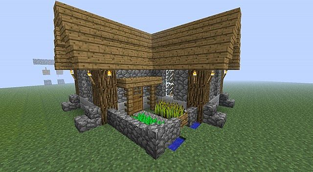 simple and compact survival house minecraft project
