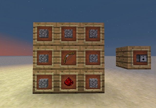 how to make dispenser on minecraft