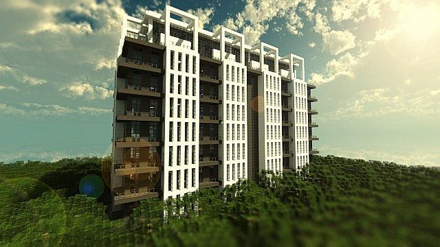 Stylish Contemporary Apartments Minecraft Project