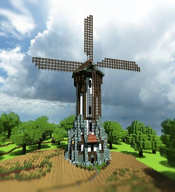 Medieval Windmill Minecraft Project