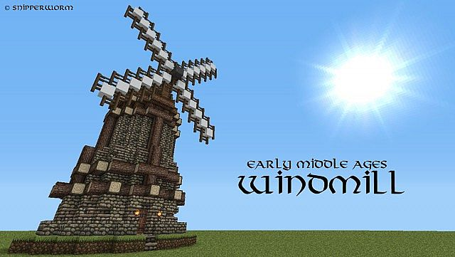 Early Middle Ages Windmill Minecraft Project