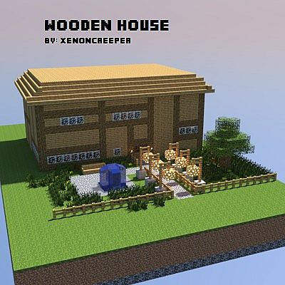 Two Story Wooden House Minecraft Project
