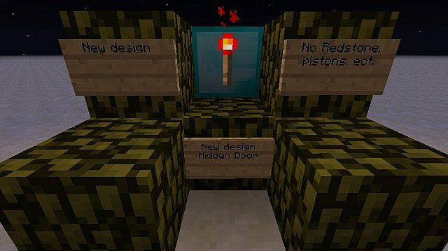 how to make a hidden door in minecraft