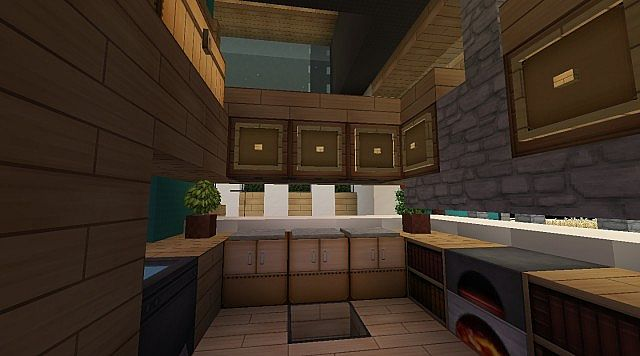 Gallery For Minecraft Modern Kitchen Designs