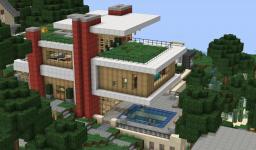 Modern Hillside Home  -WOK- Minecraft Map & Project