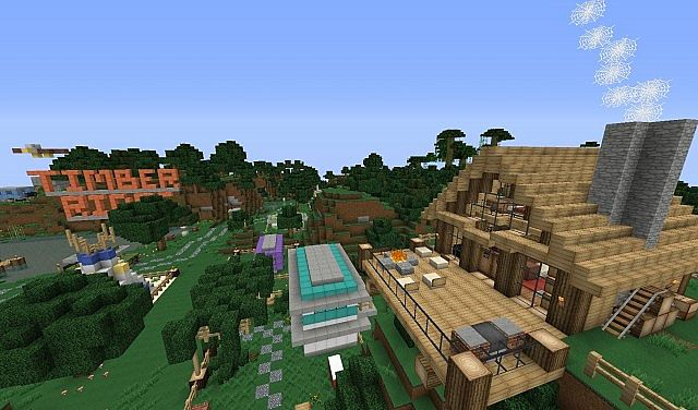Timber ridge campground world of keralis server minecraft project back deck and view gumiabroncs Gallery