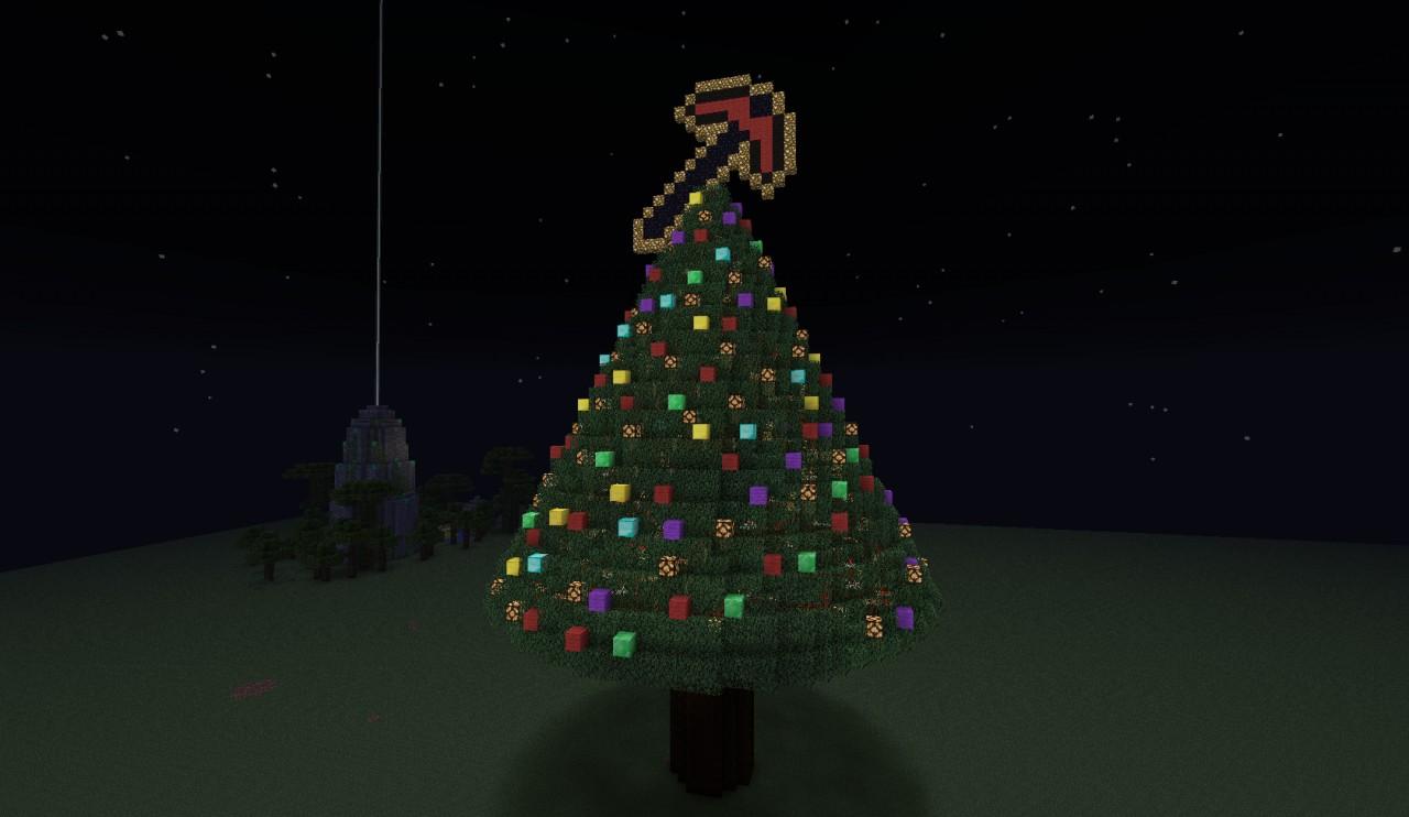Как сделать очень красивую новогоднюю ёлку в майнкрафте