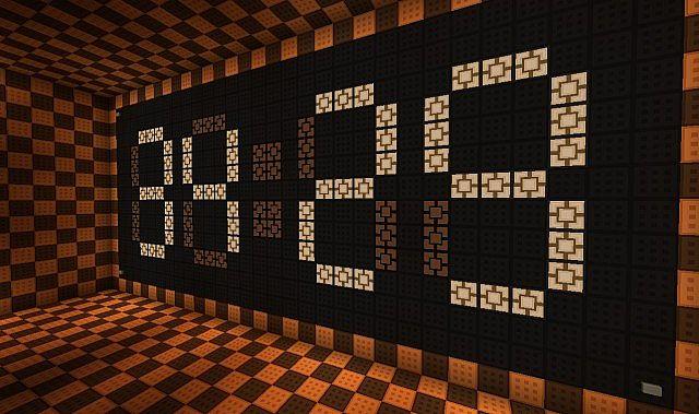 minute counter digital clock minecraft project