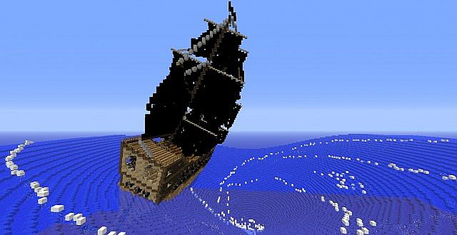 Black Pearl Tilted Minecraft Project