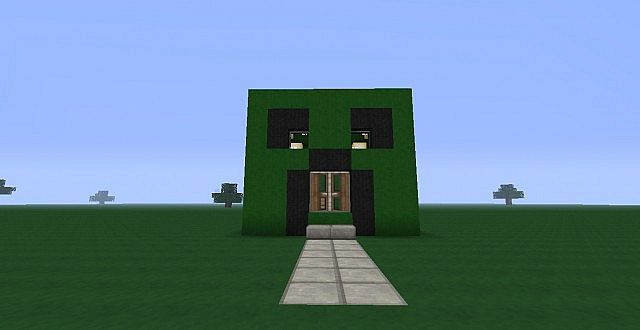 creeper house with huge basement minecraft project