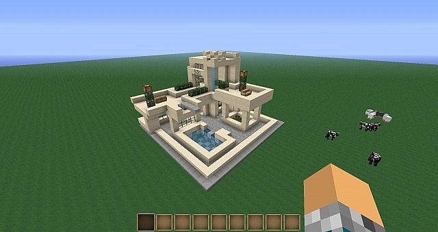 how to build a modern pool in minecraft 1.11