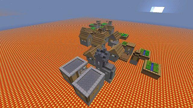 Lava world (survival) Minecraft Project