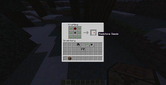 Making a redstone ore seed