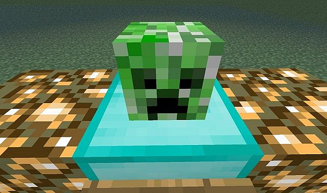And you think the map have hostile mobs... this is the only mob existing in the map. One false creeper head.
