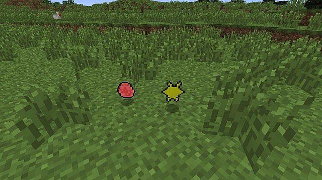 (Left) Creeper Egg (Right) Ender Dust