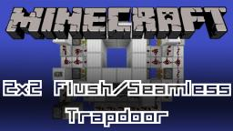Redstone - Flush & Seamless 2x2 Trapdoor (8x11x3 and 8x10x3!) [Download] Minecraft Map & Project