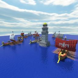 Roman War Fleet Minecraft Map & Project
