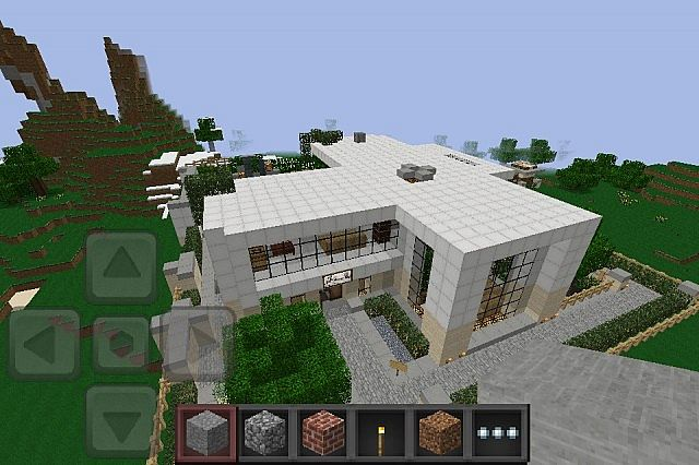 Keralis 39 s modern houses minecraft pocket edition 0 5 0 for Modern house minecraft pe