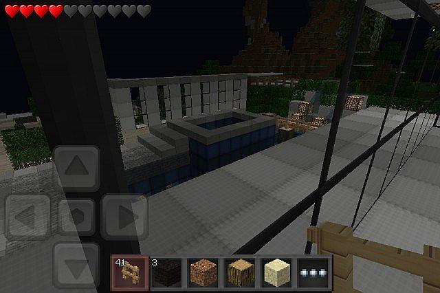 Keralis modern house minecraft pocket edition 0 5 0 for Modern house 5 keralis