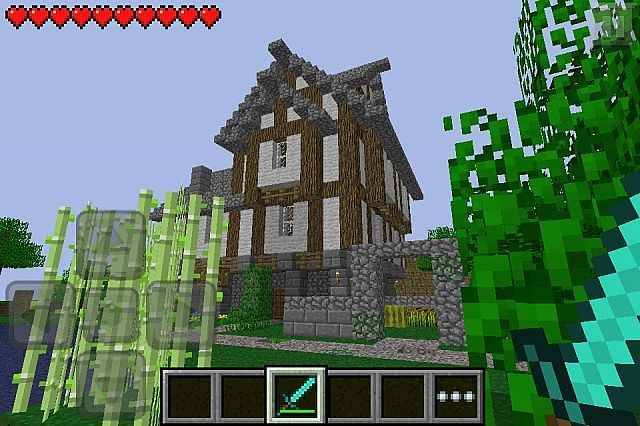 Minecraft pocket edition house survival minecraft project for Explore craft survival pe