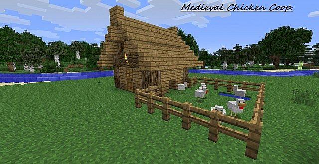 How To Build A Chicken Coop In Minecraft Pe Diy Chicken Coop From