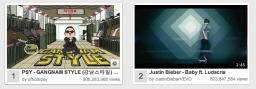 Gangnam Style overtakes Justin Beiber- Baby on Youtube Minecraft Blog