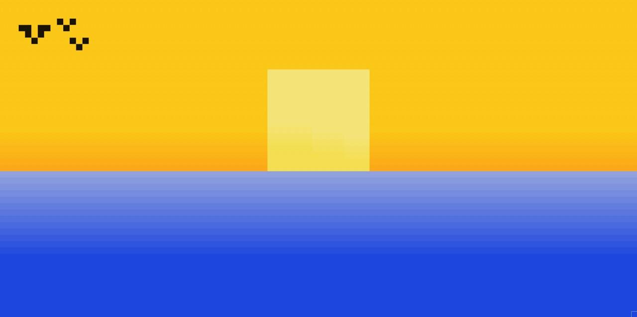 Summers Setting Sun Pixel Art Minecraft Blog