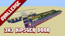 3x3 Hipster door - No redstone above ground Minecraft