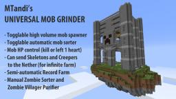 Universal Mob Grinder (with Sorter, Record Farm, Purifier etc.) Minecraft Map & Project