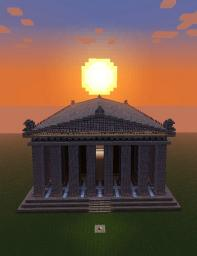 1:1 Scale Replica Parthenon Minecraft