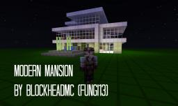 Modern Mansion {No WorldEdit/Voxel Sniper used} Minecraft