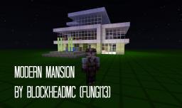 Modern Mansion {No WorldEdit/Voxel Sniper used} Minecraft Map & Project