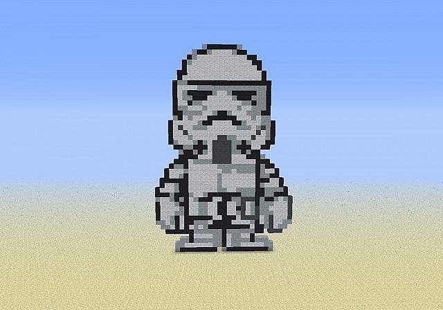 Pixel Art Storm Trooper Minecraft Project
