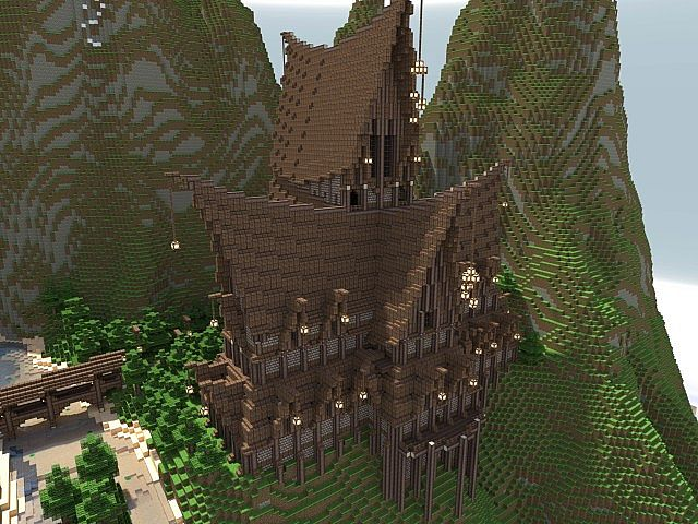 Elven mountains of ehryys to be a hunger games map minecraft project hunger games map 3d render 1 publicscrutiny Choice Image